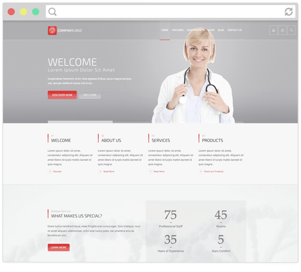Rt Theme 20 Medical Health Laboratory And Product